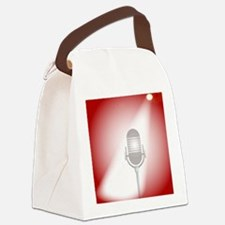 Funny Comedian microphone Canvas Lunch Bag