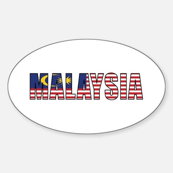 Malaysia Sticker (Oval)