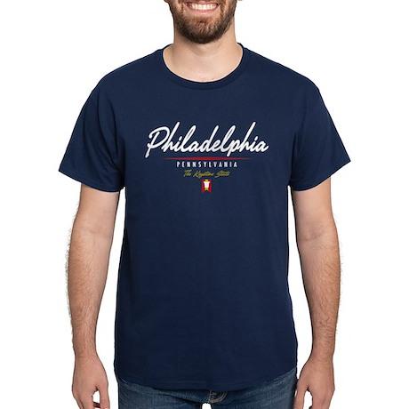 Philadelphia Script Dark T-Shirt