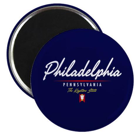 Philadelphia Script Magnet