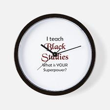 black studies Wall Clock