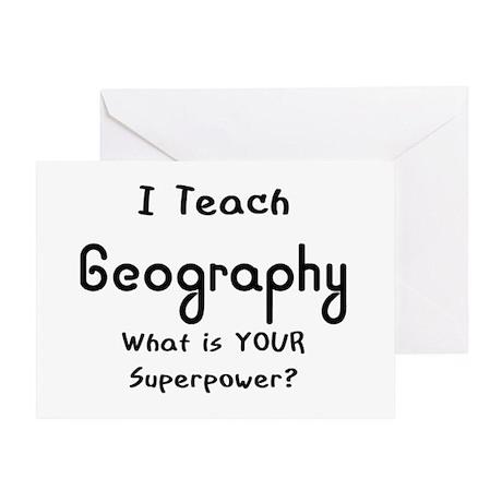 teach geography Greeting Card
