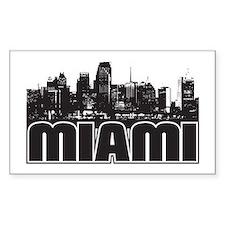 Miami Skyline Decal