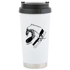 Vintage Skate Stamp Travel Coffee Mug