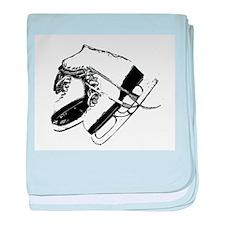 Vintage Skate Stamp baby blanket
