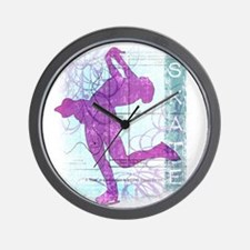 Figure Skating Collage Wall Clock