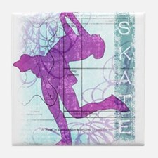 Figure Skating Collage Tile Coaster