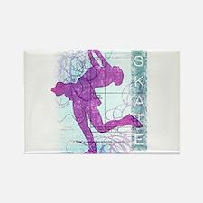 Figure Skating Collage Rectangle Magnet (10 pack)