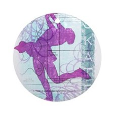 Figure Skating Collage Ornament (Round)