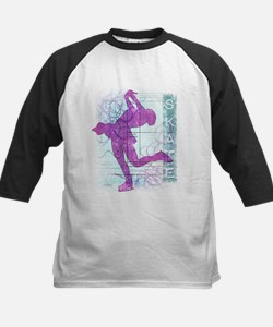 Figure Skating Collage Kids Baseball Jersey