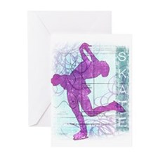 Figure Skating Collage Greeting Cards (Pk of 20)