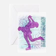 Figure Skating Collage Greeting Card