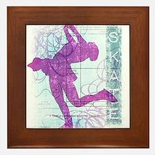 Figure Skating Collage Framed Tile