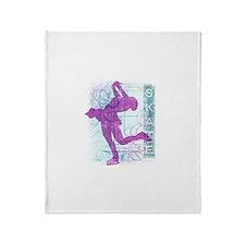 Figure Skating Collage Throw Blanket