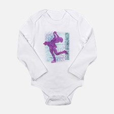 Figure Skating Collage Long Sleeve Infant Bodysuit