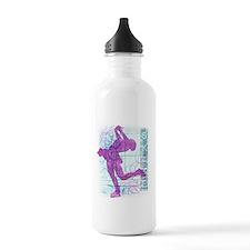 Figure Skating Collage Water Bottle