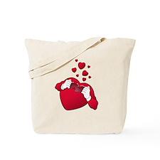 open heart love Tote Bag