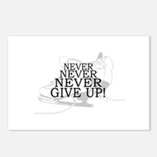 Figure Skating Never Give Up Postcards (Package of