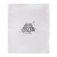 Figure Skating Never Give Up Throw Blanket
