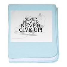 Figure Skating Never Give Up baby blanket