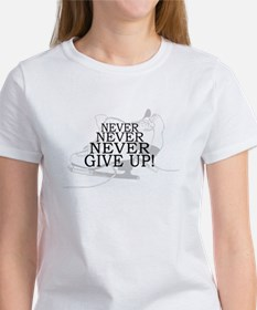 Figure Skating Never Give Up Women's T-Shirt