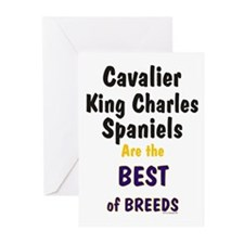 Cavalier King Charles Spaniel BOB Greeting Cards (