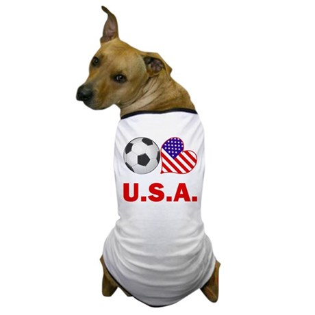 U.S.A. Soccer Fan Dog T-Shirt