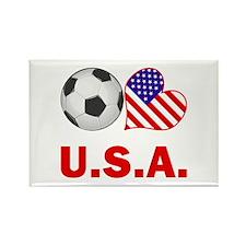 U.S.A. Soccer Fan Rectangle Magnet