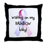 Waiting on rainbow baby Throw Pillow