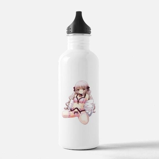 Underwear Anime Girl Water Bottle
