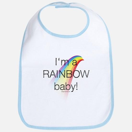 I'm a rainbow baby Bib