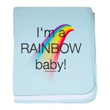 I'm a rainbow baby baby blanket