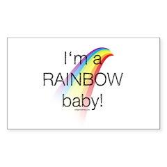 I'm a rainbow baby Sticker (Rectangle)