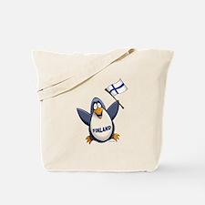 Finland Penguin Tote Bag