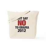 No Obama in 2012 Tote Bag