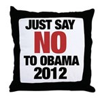 No Obama in 2012 Throw Pillow