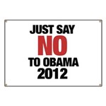 No Obama in 2012 Banner