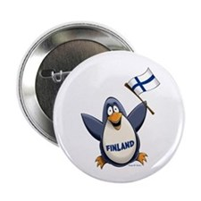 "Finland Penguin 2.25"" Button"