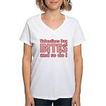 Valentine's Day Bites Women's V-Neck T-Shirt