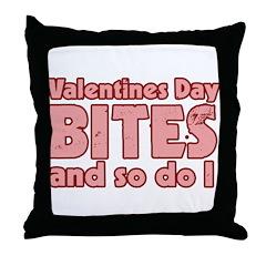 Valentine's Day Bites Throw Pillow