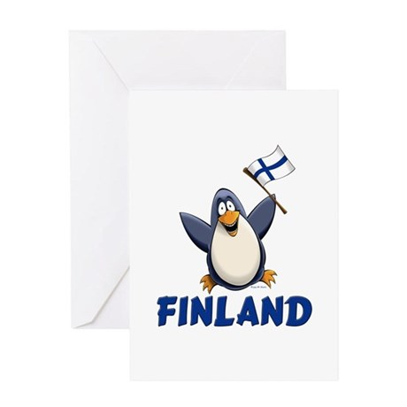 Finland Penguin Greeting Card