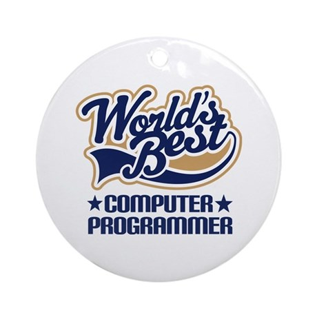 Computer Programmer Ornament (Round)