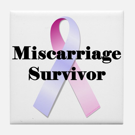 Miscarriage survivor Tile Coaster