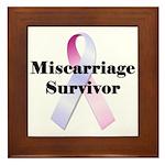 Miscarriage survivor Framed Tile