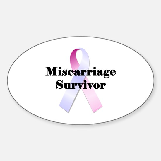 Miscarriage survivor Sticker (Oval)
