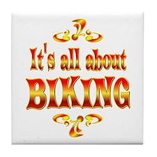 About Biking Tile Coaster