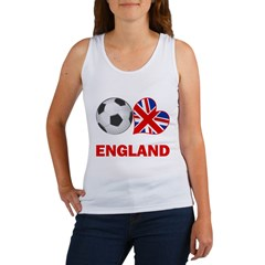 English Soccer Fan Women's Tank Top