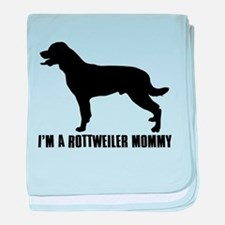 i'm a rottweiler mommy baby blanket