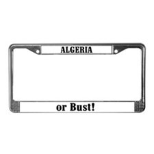 Algeria or Bust! License Plate Frame