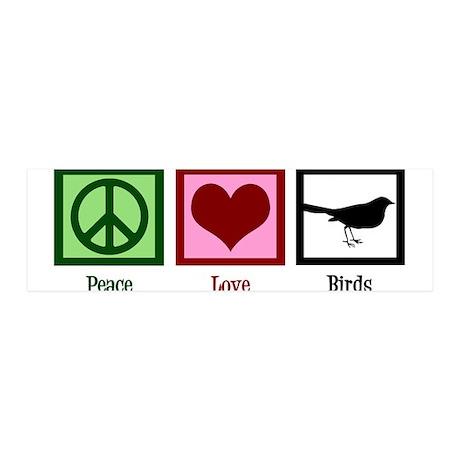 Peace Love Birds 36x11 Wall Decal